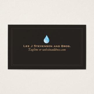 Tratamiento del fontanero del logotipo del tarjeta de visita