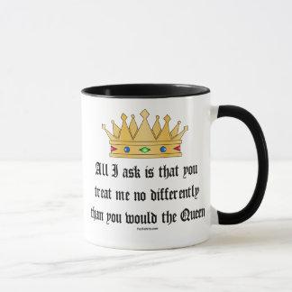 Tráteme como la taza de la reina