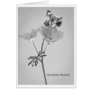 Trauerkart flores pésames Cordiales Tarjeta