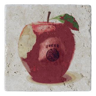 Travertino Trivet de Apple del comodín Salvamanteles