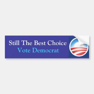 Travesaño la mejor opción: Obama: Azul Pegatina Para Coche