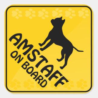 Travesía de Amstaff [Xing] Pegatina Cuadrada