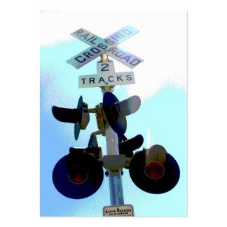 Travesía de ferrocarril plantillas de tarjetas personales