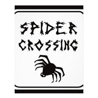 Travesía de la araña folleto 21,6 x 28 cm