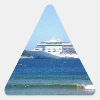 Travesía de Punta del Este Pegatina Triangular