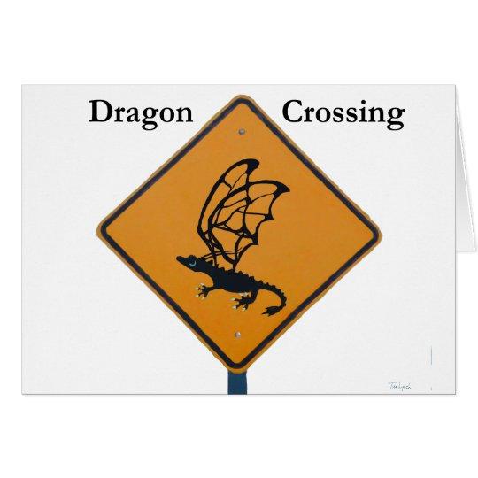 Travesía del dragón tarjeta de felicitación