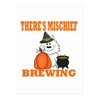 Travesura de Halloween Postal