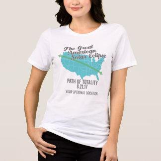 Trayectoria 2017 del eclipse solar de la totalidad camiseta