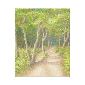 Trayectoria a través de los árboles, impresión de