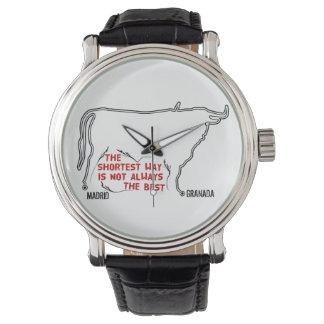 Trayectoria de la forma de Bull de Madrid a Reloj De Pulsera