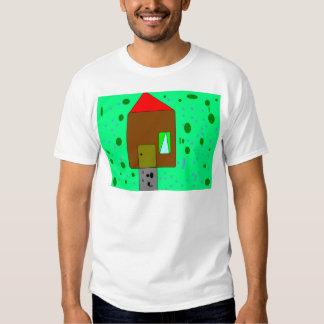 Trayectoria de la puerta de la casa, pintura de camisetas