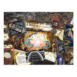 Trayectoria del collage de la vida postal