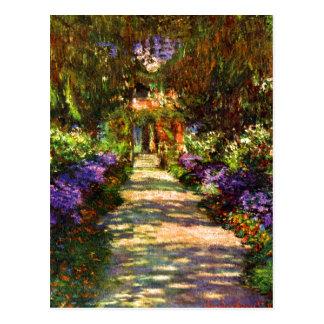 Trayectoria del jardín de Claude Monet Postal