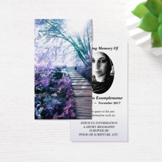 trayectoria encantada tarjeta conmemorativa