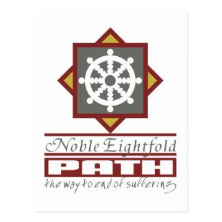 Trayectoria multiplicada por ocho budista postal