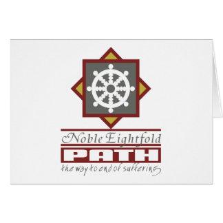Trayectoria multiplicada por ocho budista tarjeta de felicitación