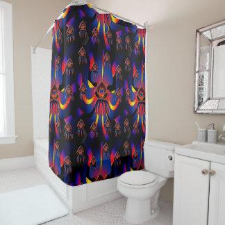 Trazador de líneas negro de la cortina de ducha de