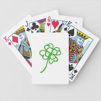Trébol abstracto cartas de juego