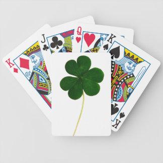 Trébol afortunado baraja de cartas