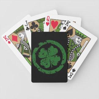 Trébol afortunado barajas de cartas
