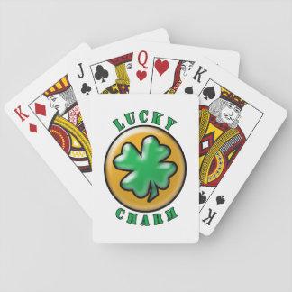 Trébol afortunado de la hoja del encanto 4 del día cartas de juego