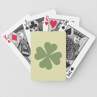Trébol afortunado encantador baraja de cartas