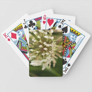 Trébol blanco baraja de cartas bicycle