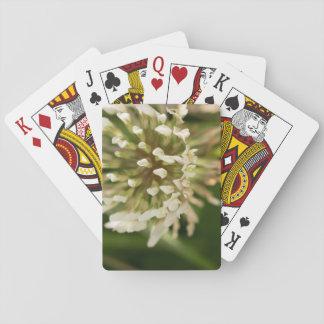 Trébol blanco cartas de póquer