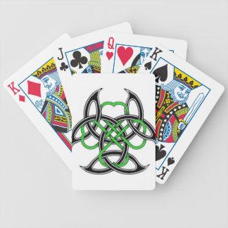 Trébol céltico baraja cartas de poker