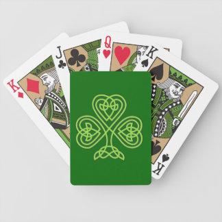trébol céltico del nudo baraja de cartas