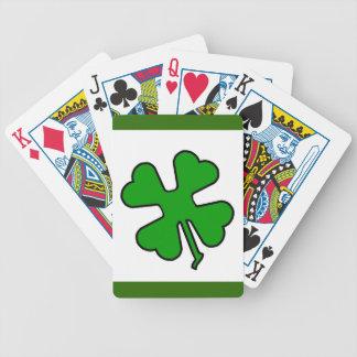 Trébol de cuatro hojas (afortunado) baraja de cartas bicycle