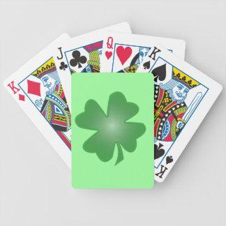 Trébol de cuatro hojas baraja de cartas