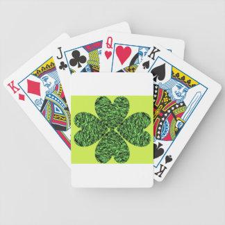 Trébol de cuatro hojas baraja cartas de poker
