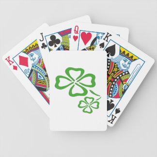 Trébol de cuatro hojas baraja de cartas bicycle