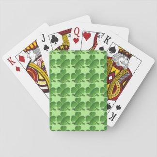 Trébol de cuatro hojas barajas de cartas