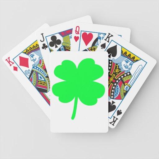 Trébol de cuatro hojas cartas de juego