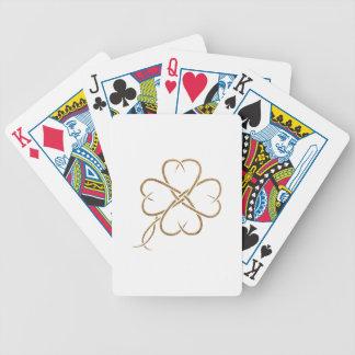 Trébol de la arpillera cartas de juego