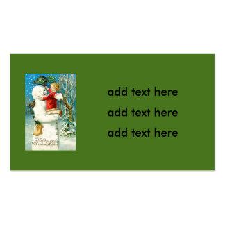 Trébol de la hoja de la querube cuatro del ángel tarjetas de visita