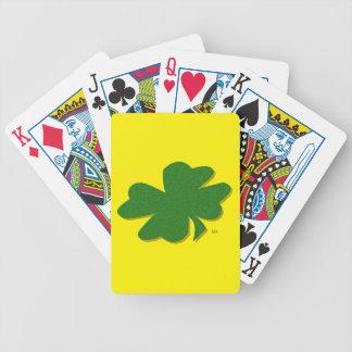 trébol de la hoja del irlandés 4 de la buena baraja de cartas bicycle