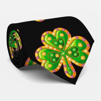 Trébol de oro de la joyería corbata personalizada