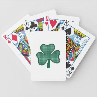 Trébol de tres hojas baraja cartas de poker