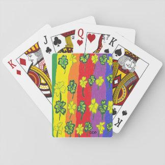 Trébol del arco iris baraja de cartas