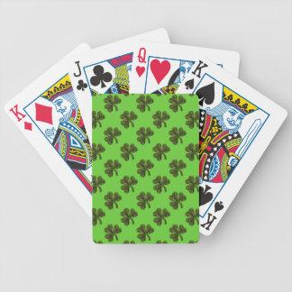 Trébol del día de St Patrick Baraja Cartas De Poker