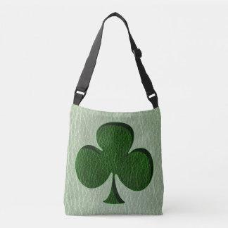 Trébol del irlandés de la Cuero-Mirada Bolso Cruzado