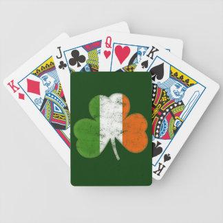 Trébol del irlandés del vintage baraja de cartas