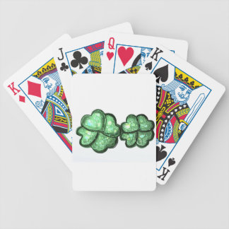 Trébol doble de la suerte baraja de cartas bicycle