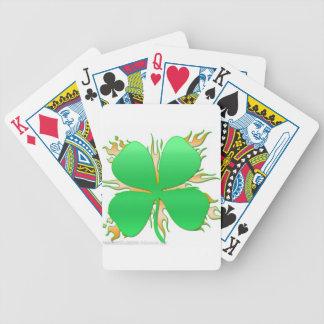 trébol en el fuego barajas de cartas