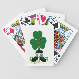 trébol feliz baraja cartas de poker