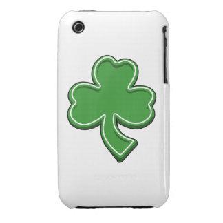 Trébol iPhone3g del día de St Patrick iPhone 3 Funda