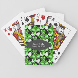 Trébol Irlanda del verde del día de St Patrick Baraja De Póquer
